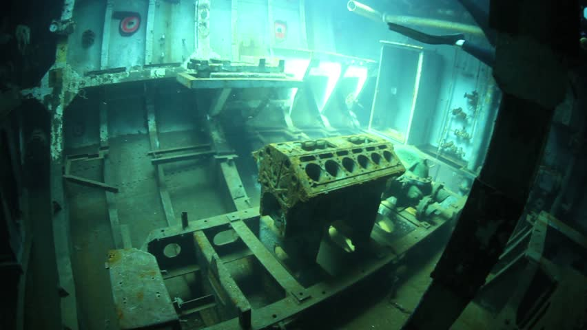 The USS Kittewake is a former US Navy vessel that was intentionally sunk off Grand Cayman in the Caribbean.  The wreck serves as an artificial reef and makes a fantastic scuba dive.