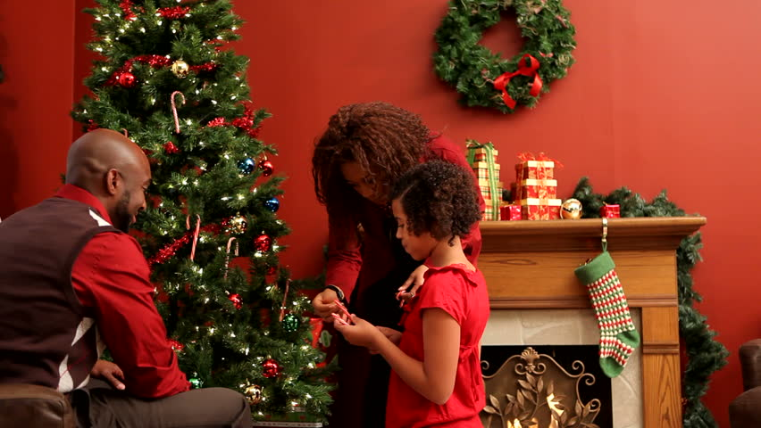 family christmas stock video footage 4k and hd video clips shutterstock - Videos Of Decorated Christmas Trees