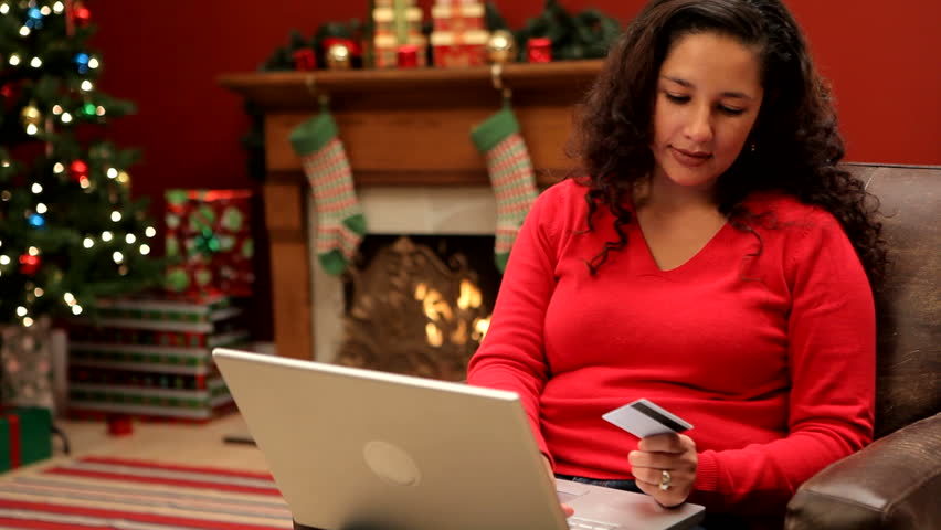 Woman Doing Christmas Shopping Online Stock Footage Video (100% Royalty-free) 4551695 | Shutterstock
