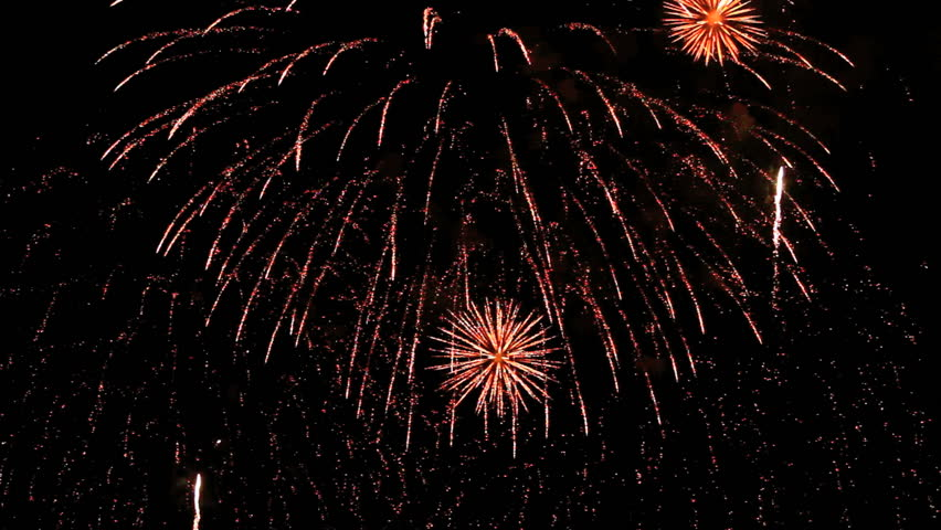 Spectacular fireworks finale with sound.