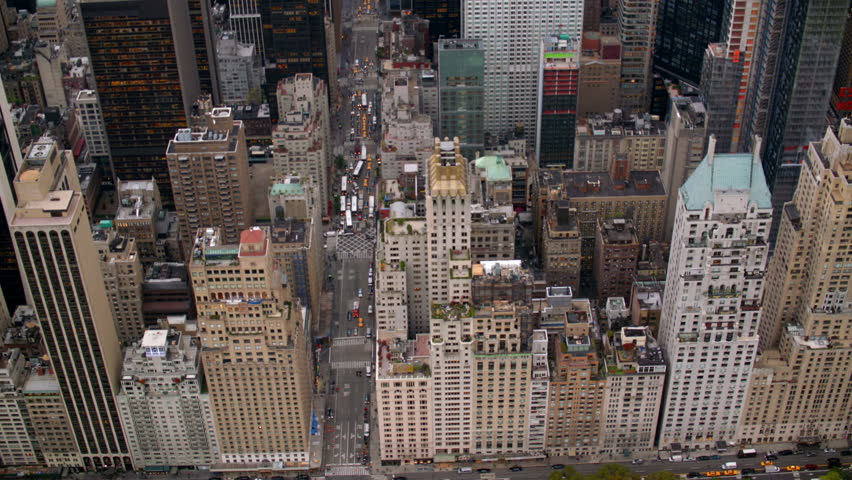 New York City buildings, overhead aerial shot | Shutterstock HD Video #4580135