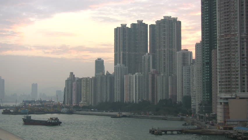 Hong Kong dawn skyline | Shutterstock HD Video #4581995