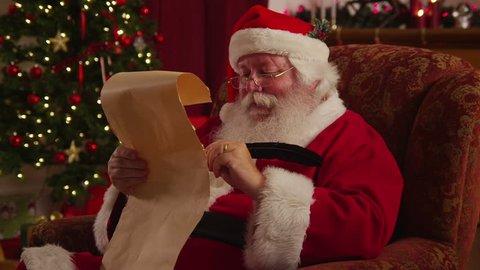 Santa Claus writes on list