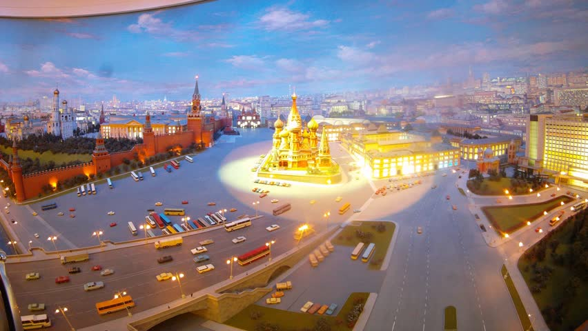 Classical view of Moscow and Kremlin with Saint Basil Church, timelapse   Shutterstock HD Video #4586015