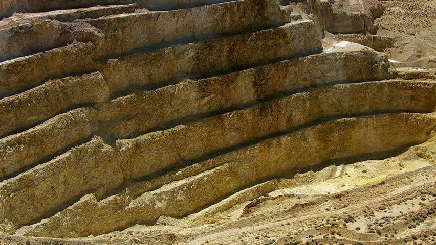 Aerial shot of mining operation, California