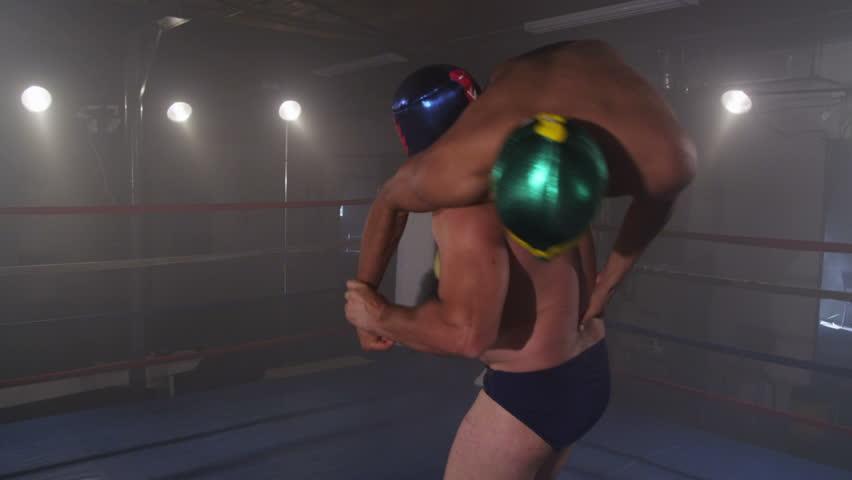 Wrestler is body slammed