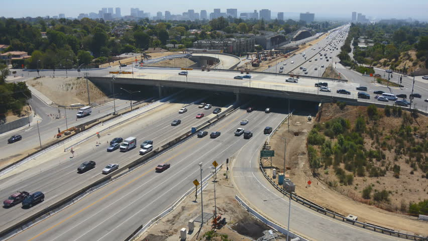 Time Lapse of Traffic on Busy Freeway in Los Angeles | Shutterstock HD Video #4638464