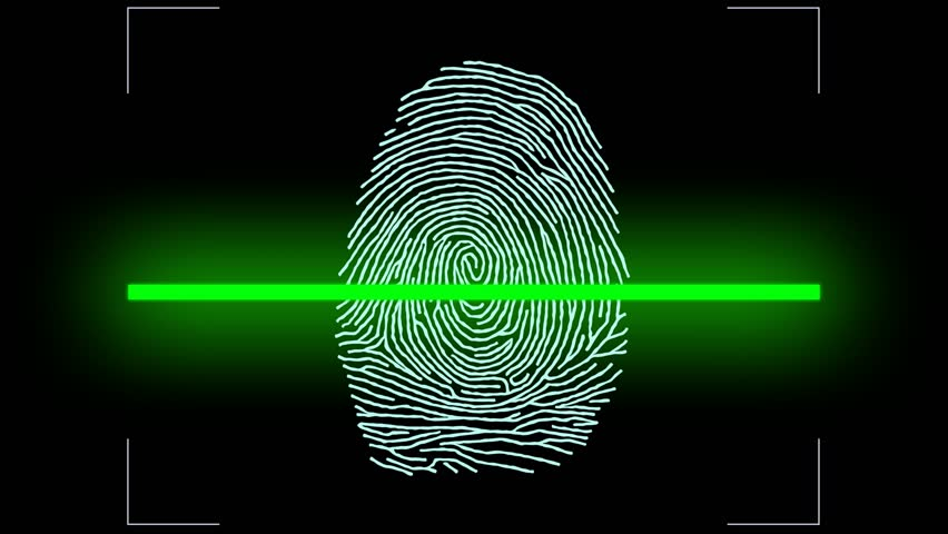 Shopping by finger Touch, ID Fingerprint scan Access icon. Touch screen