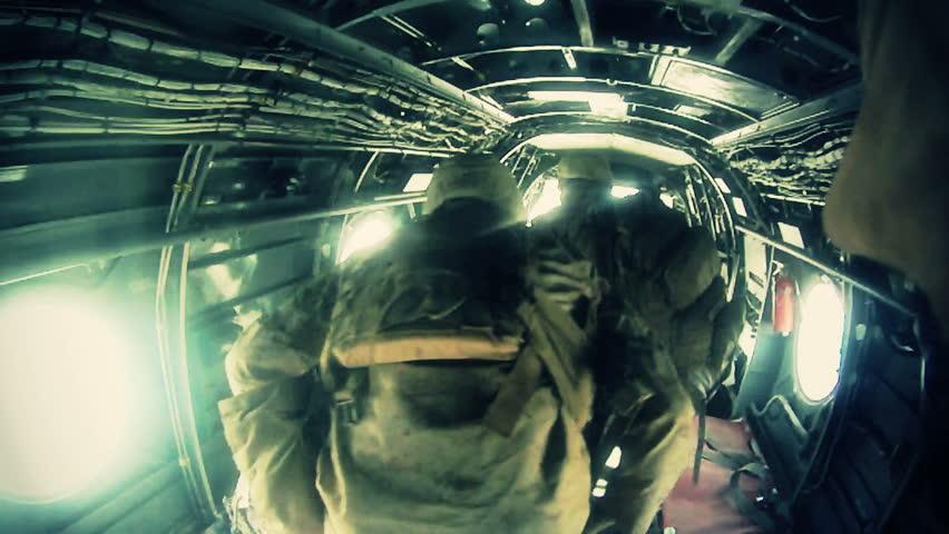 Marines training for combat in desert conditions