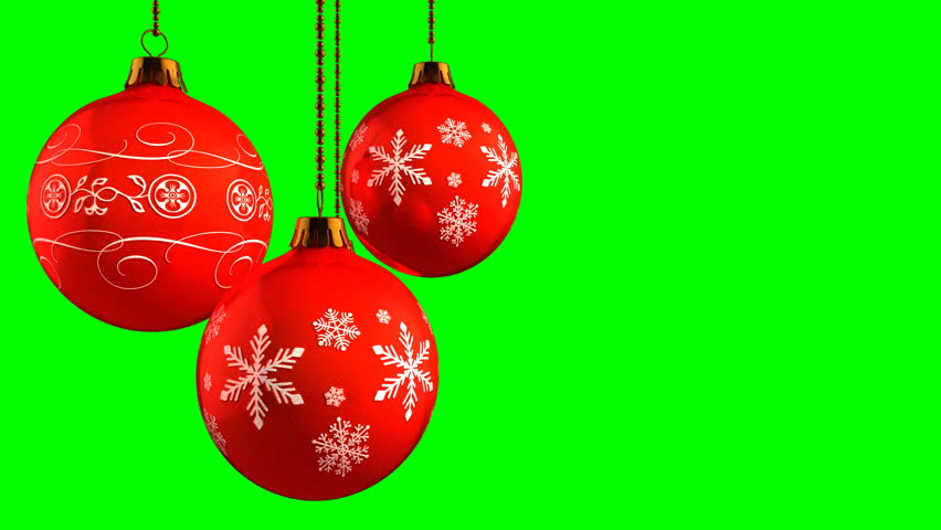 Christmas Ornaments On Green Screen The Stock Footage Video 100 Royalty Free 4668335 Shutterstock