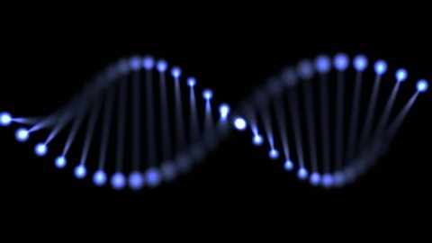 Animated DNA chain