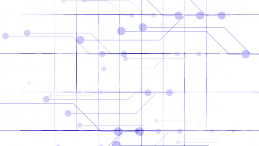 Virtual electric circuit,tech power lines grid & circle. | Shutterstock HD Video #4691135