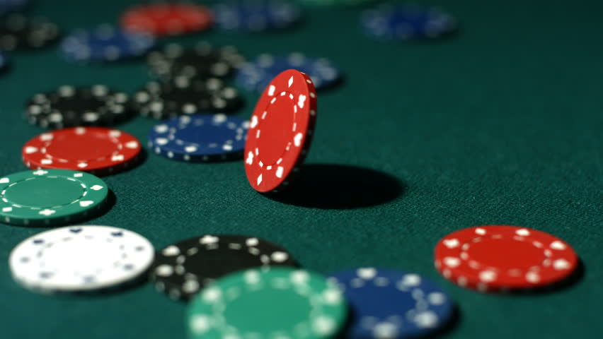 Falling Poker Chips - Green Background Stock Footage Video ...