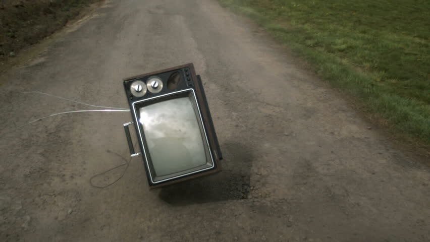 Televison bouncing on country road | Shutterstock HD Video #4703804