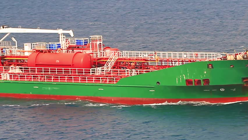 Close-up of Oil Chemical Tanker