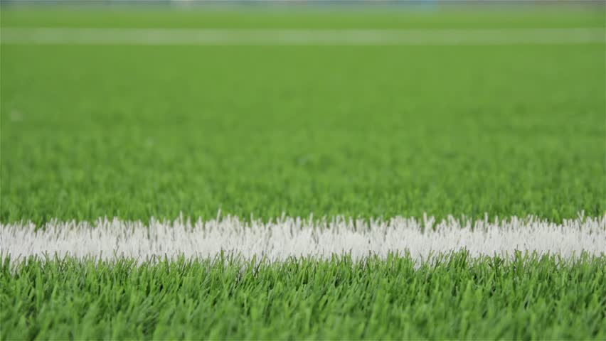 White line of the soccer field. Close-up horizontal slider shot | Shutterstock HD Video #4714529
