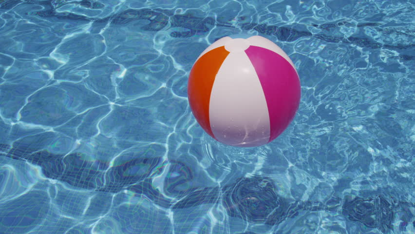 Beach Ball Floating In Pool Stock Footage Video Shutterstock