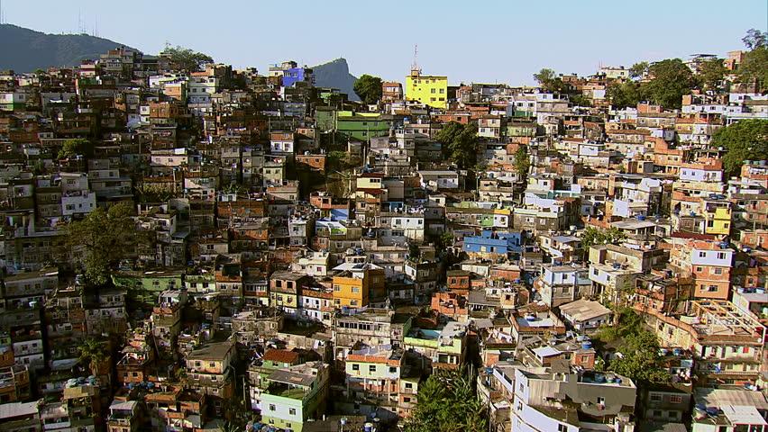 Aerial view of Rocinha, Brazil's largest favela, Rio de Janeiro, Brazil #4760645