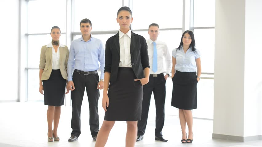Business People At Office Posing Stock Footage Video 100 Royalty