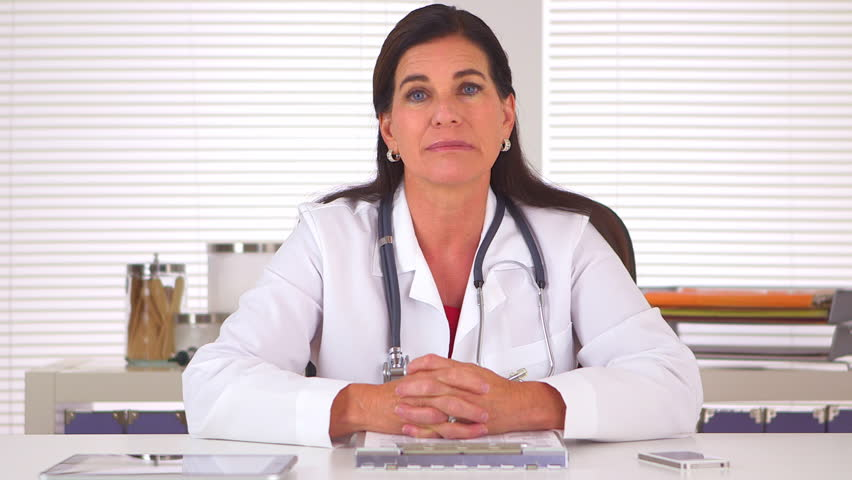 Sincere doctor looking at camera and giving positive encouragement