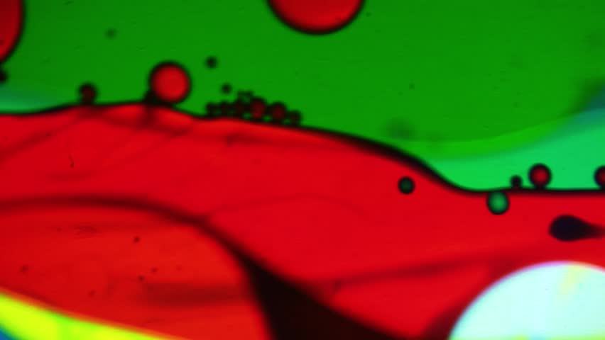 Original 60's Disco Oil Wheel in Close Up Detail - Abstract Motion Background