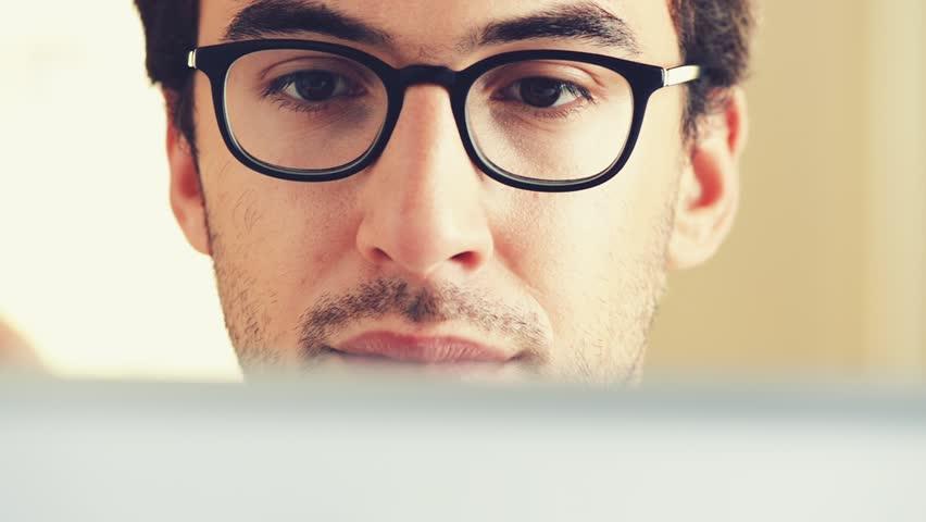 Man using digital tablet touchscreen computer ipad | Shutterstock HD Video #4853129