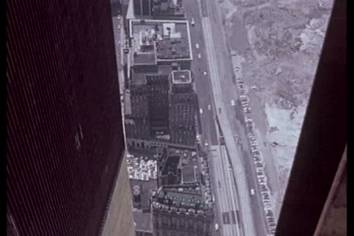 1970s - Silent footage of the building of the World Trade Center in the 1960s. | Shutterstock HD Video #4853675
