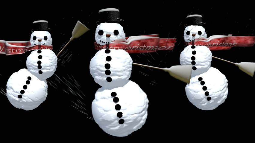Snowmen | Shutterstock HD Video #486325