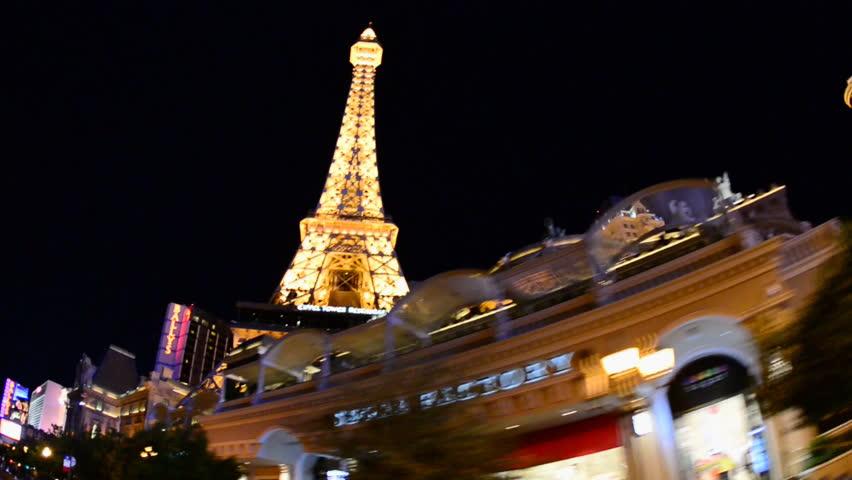 POV Driving past Las Vegas Casino at Night | Shutterstock HD Video #4863515
