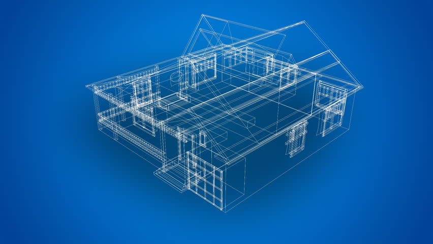 House blueprints stock footage video 487078 shutterstock malvernweather Image collections