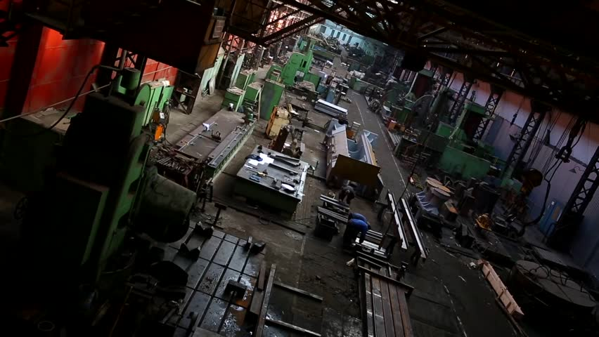 Industrial machine factory from the inside | Shutterstock HD Video #4900475