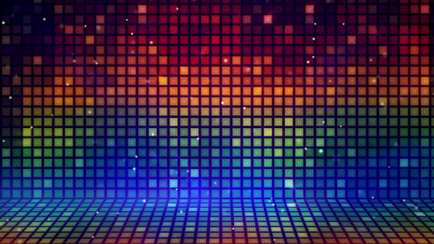 Multicolored Mosaic Flashing Loopable Background