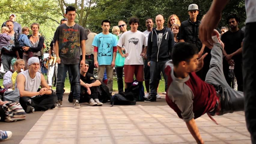 BRISTOL - September 1: Break Dancing / B-Boy Jam Competition - Long Sequence - September 1 2013 in Bristol England