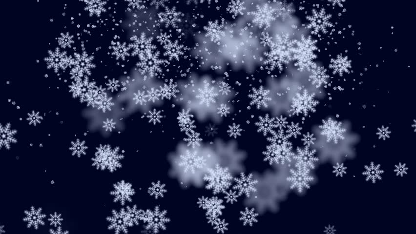 stock video of falling snow flakes animated winter