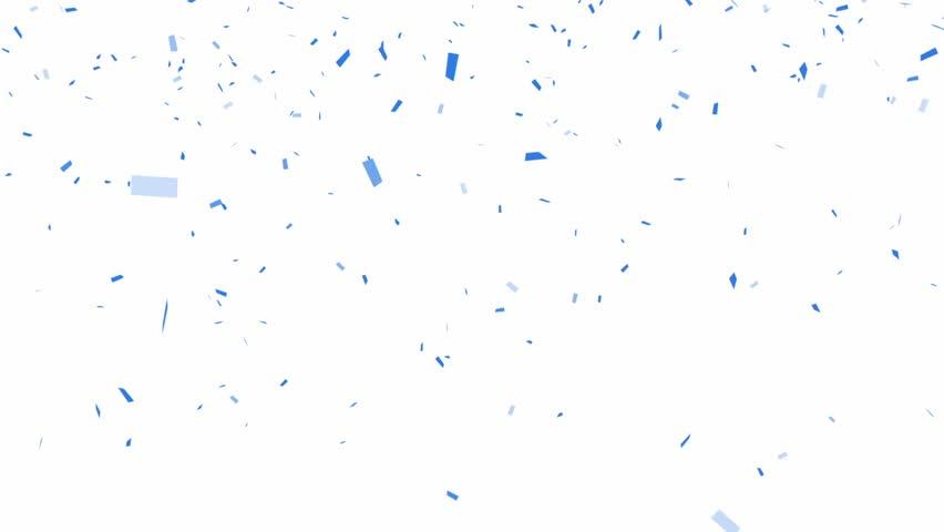 Blue Confetti - alpha channel included  | Shutterstock HD Video #4959554