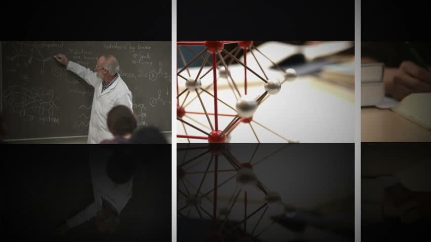 Scrolling science education composite on black background | Shutterstock HD Video #4969817