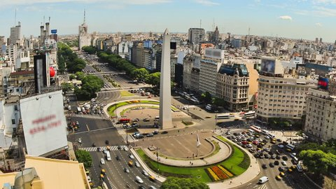 City Traffic Time Lapse 78 Buenos Aires Above Zoom