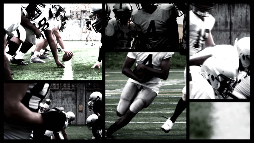 Slow and fast motion football composite grid | Shutterstock HD Video #4977242