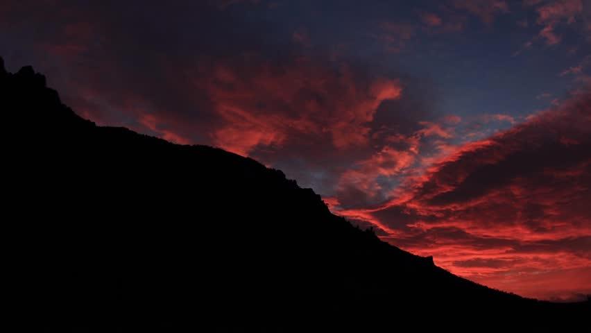 Timelapse sunrise in the mountains Demerdji. Alushta, Crimea, Ukraine