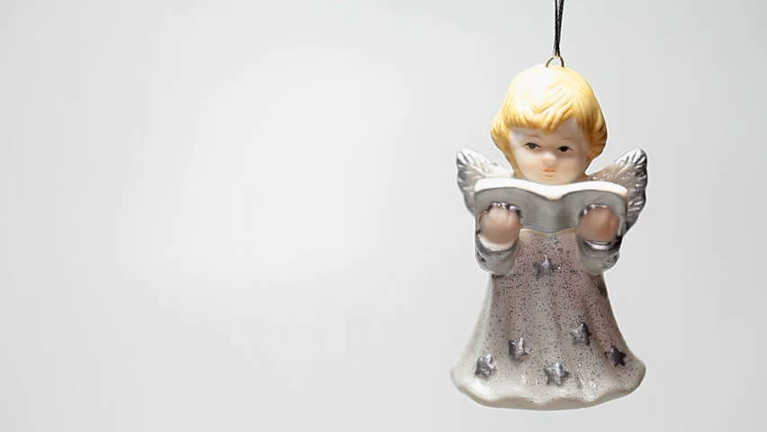 Christmas Angel Isolated On White Background Stock Footage Video ...