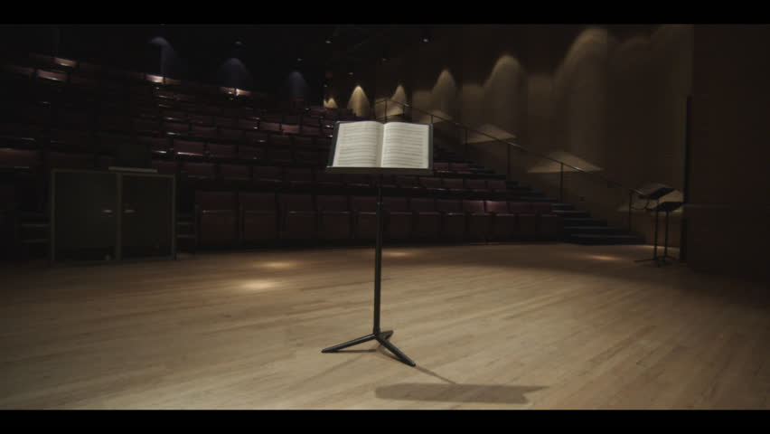 Musical Stand alone  on a stage