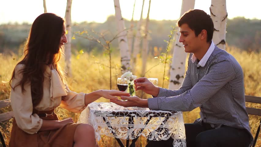 Romantic Marriage Proposal Forest Date