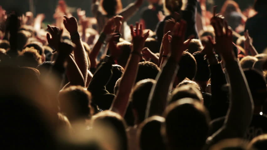 Concert crowd, slow motion, also normal speed version of this video available in my portfolio | Shutterstock HD Video #5019935