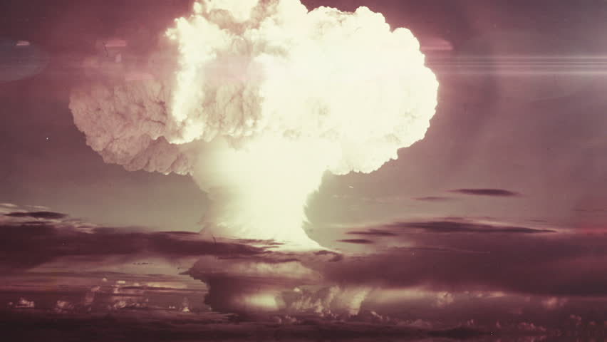 Incredible view of an atomic bomb detonating.