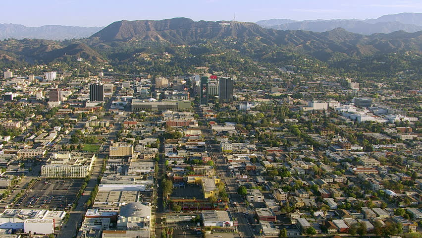 Los Angeles, California, USA - March 22, 2012: Aerial shot of Hollywood