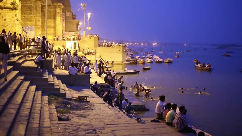 Night scene in Varanasi
