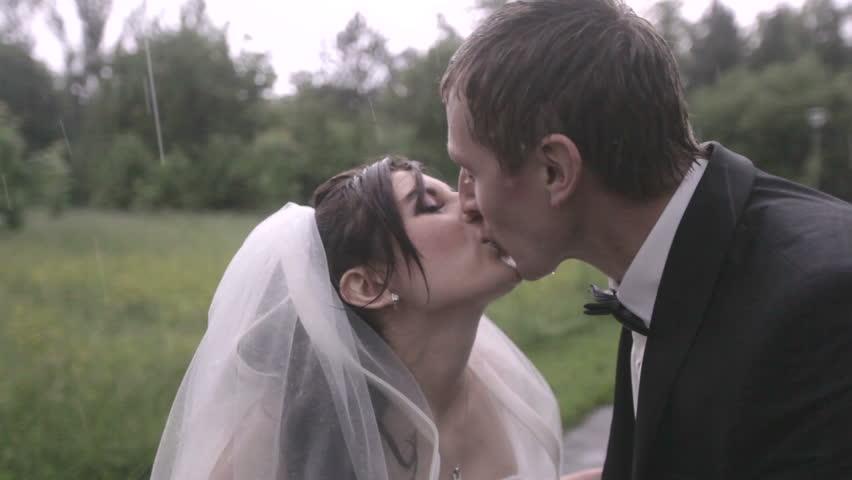 Wedding in the rain | Shutterstock HD Video #5055254