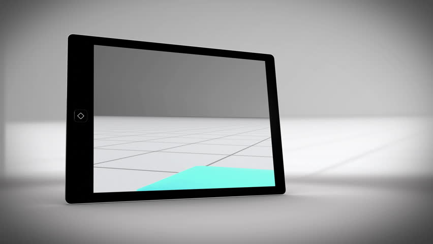 Video about tablet showing statistics on grey background   Shutterstock HD Video #5064098