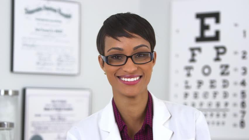 Happy optometrist looking at camera #5066915