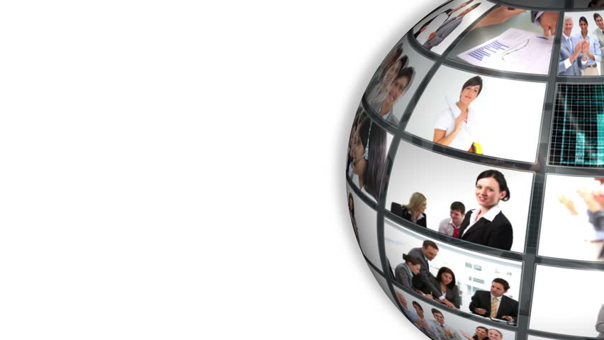 Animated world turning showing business people doing different work | Shutterstock HD Video #5068115